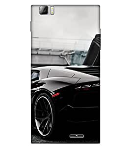 Takkloo Black car ( car for men, car for women, classy car, trendy car, luxury car) Printed Designer Back Case Cover for Lenovo K900