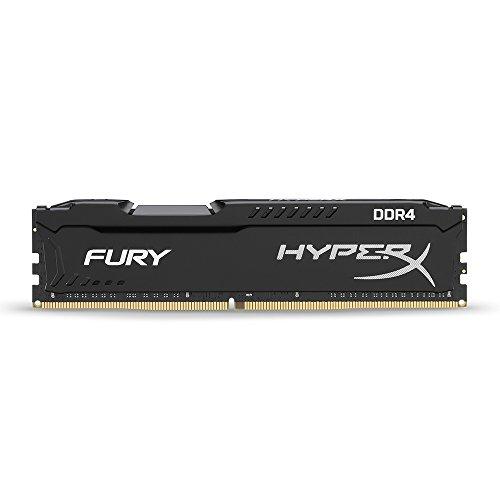 HyperX Fury - Memoria RAM de 16 GB (DDR4, 2400 MHz, CL15, DIMM XMP, HX424C15FB/16) Color Negro