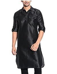 Royal Men's Silk Blend Pathani Long Kurta's