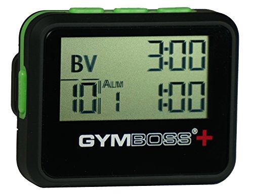 Gymboss Plus Intervall Timer und Stoppuhr–Schwarz/Grün SOFTCOAT