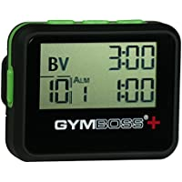 Gymboss PLUS Interval Timer and Stopwatch - BLACK / GREEN SOFTCOAT