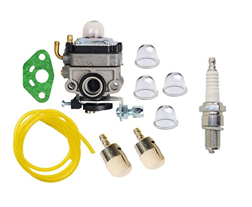 Honda Mantis Tiller (OuyFilters Carburetor Carb Kit with Primer Blub Fuel Line Fuel Filter For Honda GX25 GX25N GX25NT FG110 Replaces 16100-Z0H-825)