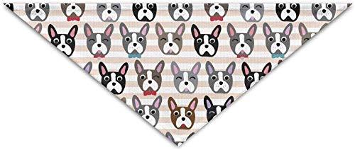 Iuitt7rtree Bulldog francés - Fondo Rayas Triángulo