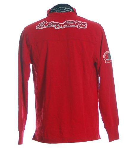 Arqueonautas Herren Langarm Shirt Poloshirt Polokragen History Rot