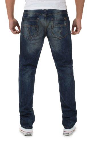 M.O.D Jeans Herren Straight Leg Jeans Jacob 2014 Star MOD 14871 D.G Blau
