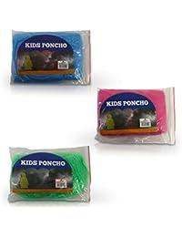 6 x HC-Handel 913954 Kinder Regenponcho Cape Einheitsgröße verschiedene Farben