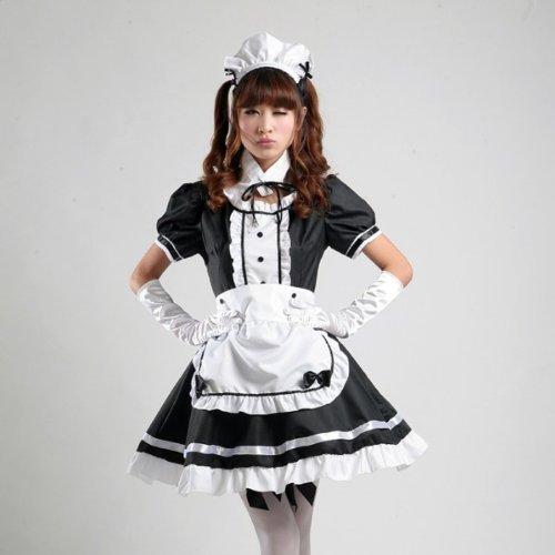 Moe Moe! H?bsche Maid Cafe klassischen Gothic Halloween-Kost?m Gr??e L (Moe Kostüm Halloween)