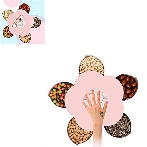 Genießen Sie Das Leben Blüte Snack-Box, Blume-förmigen Rotierenden Candy Box Dish Snack-Tablett Kreativ -