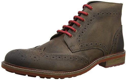 Joe Browns Perfection Waxed Leather Boots, Bottines de Ville Homme Marron