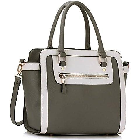 LeahWard femminile Two Tone forma di Nizza Grande Borse Tote Bags