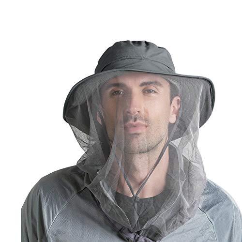 CHIC DIARY Moskito Kopfnetz Hut Unisex Sonnenhut Fischerhut Dschungel Gesichtsmaske Schutz Bienenhut für Outdoor Gartenarbeit