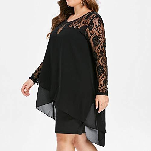 WEANT Vestiti lungo donna taglie forti Manica lunga vestito abito abiti  lungo cerimonia donna estivi elegante 89845dfeff5
