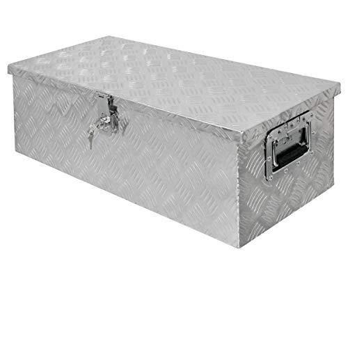 ECD Germany Alu Werkzeugkasten 76,5 x 33,5 x 24,5 cm - abschließbar - Werkzeugkoffer Werkzeugkiste Werkzeugbox Alukiste Kiste Alubox Transportbox Transportkiste Deichselbox Truckbox Box