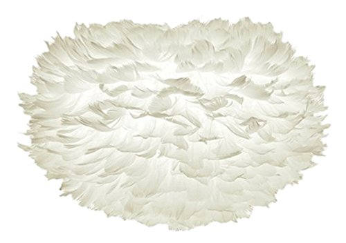 Vita Copenhagen 02011 Eos Lampe Suspension Plumes d'Oies/Papier/Acier Blanc Taille Petit