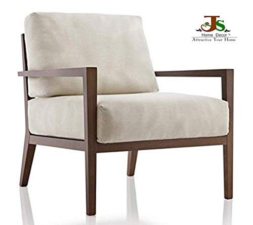 JS Home Decor Solid Sheesham Wood Lounge Chair (Brown)