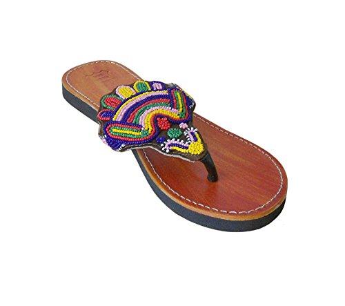 kalra Creations Femme Cuir fait main traditionnel indien Party pantoufles Camel