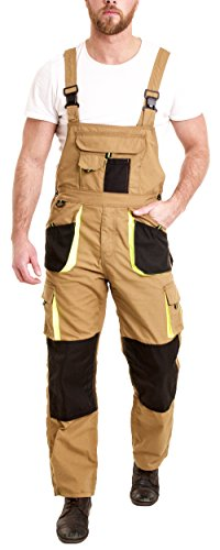 Juicy Trendz Uomo Lavoro Salopette Bib Brace Overalls Lavoratore Pantaloni Multi Tasca Working Pants