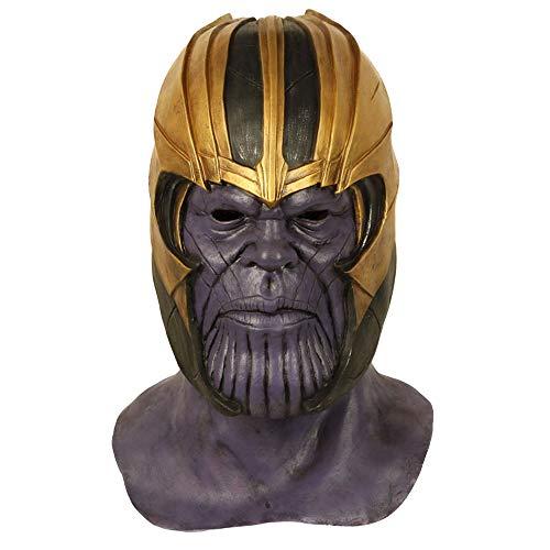 Als Maske Avengers 4 Full Head Helm Latex Masken Cosplay Kostüm Halloween Karneval Requisiten Kostümzubehör Film Replikat,A-OneSize