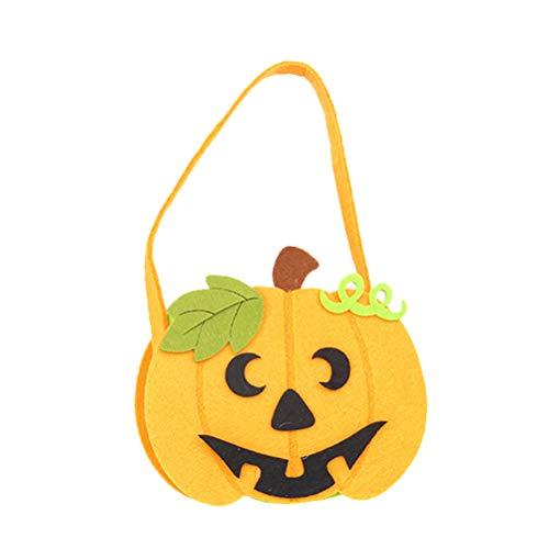 Amosfun Halloween Candy Bag Cartoon Kürbis Tasche Portable Kids Handtasche für Festival Halloween Party