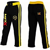 "Muscle Works Gym Met-X - Pantalón de Forro Polar para Hombre, para Gimnasio, Gimnasio, Gimnasio, Fitness, Boxeo, Gimnasio, Gimnasio, Polar, Color Negro y Amarillo, MX MW Black/Yellow, XXL 37""-39"""
