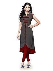 Muta Fashions Women's Cotton Blend Kurti (KURTI49_19_Pencil Grey_Free Size)