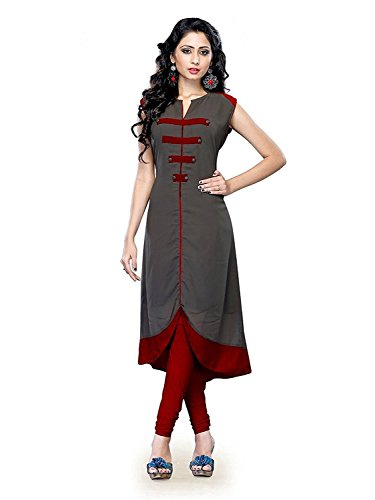 Muta Fashions Women\'s Cotton Blend Kurti (KURTI49_19_Pencil Grey_Free Size)