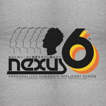 NERDO - Nexus 6 Personalized Humanoid Replicant Series - Damen T-Shirt Grau Meliert