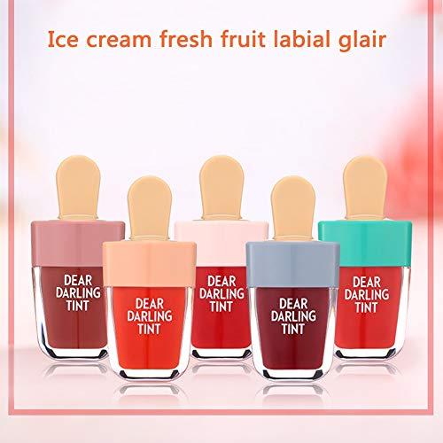 KAYI Süßigkeit geformte Frucht Aromatisierte flüssige Färbung Lippenstift Färbung Lip Gloss...