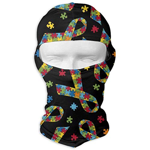 Breast Cancer Fleece (Breast Cancer Jigsaw Balaclava Clouds Full Face Masks Ski Headcover Motorcycle Fashion Mask Unisex5)