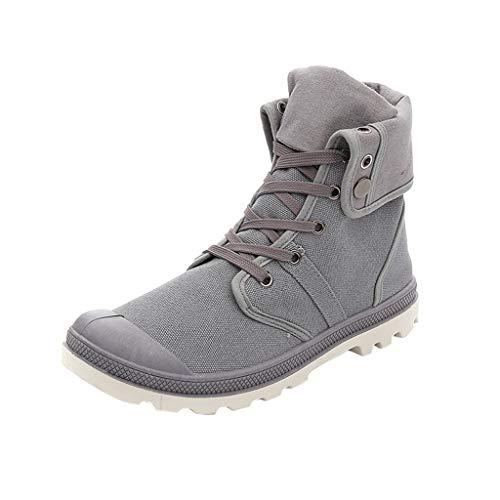 Sneaker da Uomo Scarpe da Ginnastica Alte a metà Sneakers da Uomo Scarpe da Ginnastica da Corsa Scarpe Sportive Stivaletti Traspiranti Sneakers Alte di Tela Scarpe da Jogging Basse