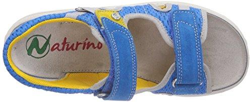 Naturino  NATURINO 5689, Sandales ouvertes garçon Bleu - Blau (SKY 9102)