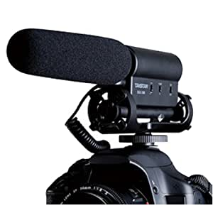 Mondpalast Mikrofon mit Stereo für Nikon/Canon Camcorder