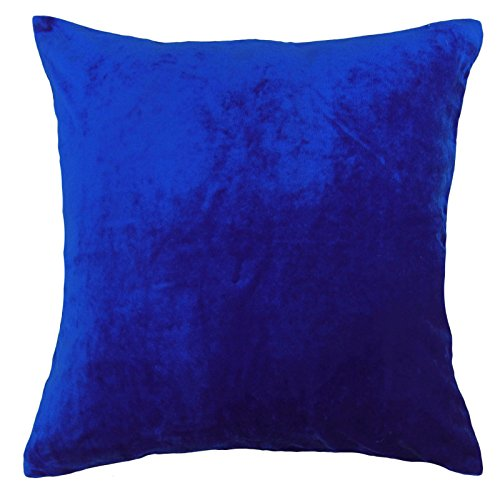 Indian Dekorative Kissenbezug HauptDécor Blau Werfen Bett Kissen Samt-Kasten 16 x 16 Zoll (Werfen, Bett, Kissen)