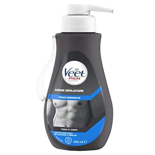 Veet Enthaarungscreme für sensible Haut, 400 ml, für Männer