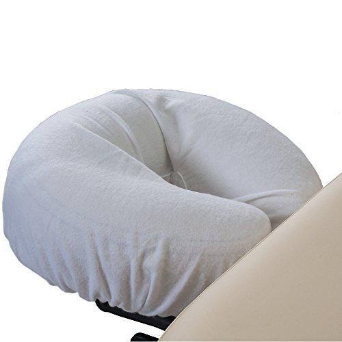 EARTHLITE Protège-têtière professionnel en flanelle - Set de 2pièces, flanelle 100% coton, protège-têtière pour tables de massage