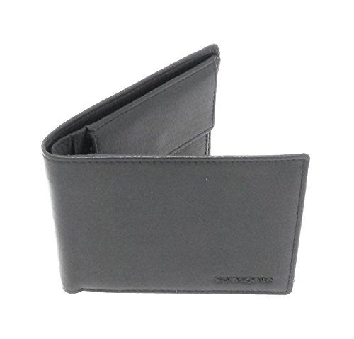 Samsonite Geldbörse Special Leder querformat schwarz - Hochwertige superschlanke Herrengeldbörse
