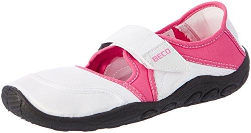 Beco Damen Surf-Und Badeschuh, Weiß/Pink, 41
