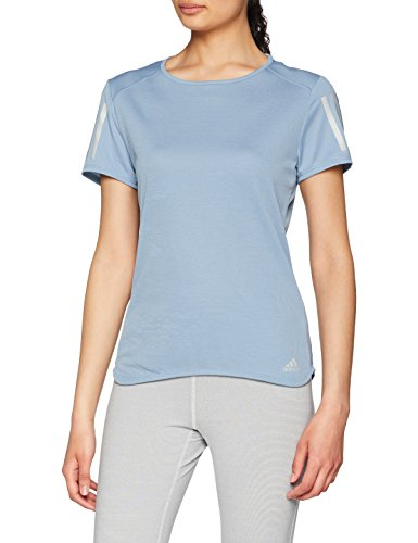 Adidas Women's Plain Regular Fit T-Shirt (CF2151_Rawgre_M)