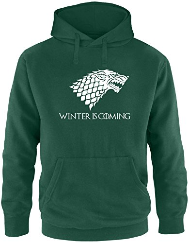 EZYshirt® Game of Thrones | Winter is coming | Schattenwolf Herren Hoodie Fashion House-tv-serien