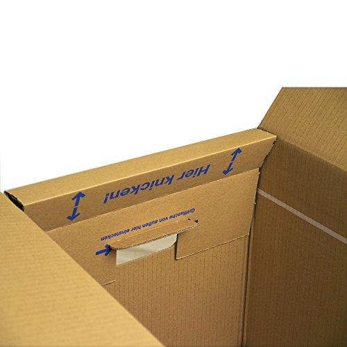 5 Bücherkartons 2 wellig in Profi Qualität Bookbox - 4