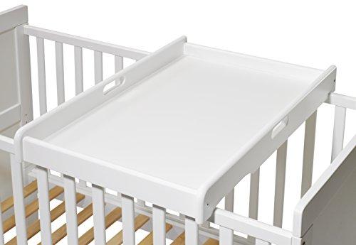 KOKO- Wickelbrett | Wickeltisch | EMIL | Wickelaufsatz für Betten 140x70 und 120x60 cm, weiss