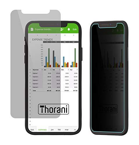 Thorani Privacy Filter kompatibel mit Apple iPhone XR I Blickschutzfolie I Displayschutz mit Anti-Spy Funktion Mobile Privacy Screen