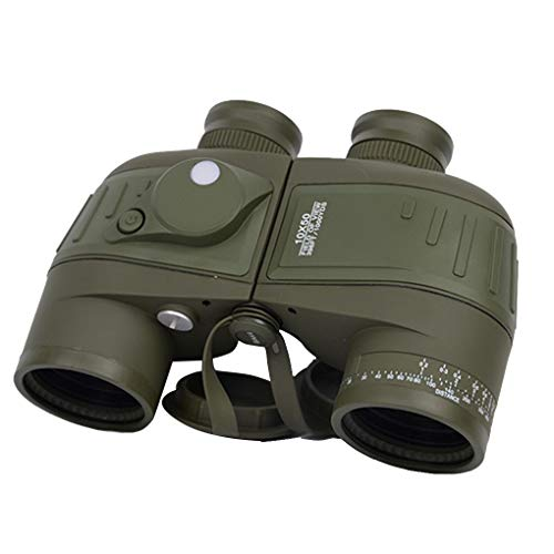 Zerama 10x50 HD Bussola Impermeabile Telescopio telemetro di Visione Notturna Binocle Navigazione Binocoli Outdoor