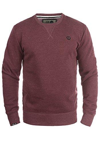 !Solid Benn O-Neck Herren Sweatshirt Pullover Pulli Mit Rundhalsausschnitt, Größe:M, Farbe:Wine Red Melange (8985)