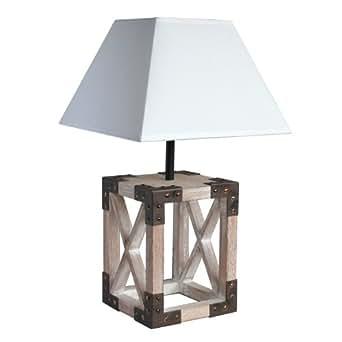 Seynave - Tarako - Lampe à Poser Bois & Métal - Lampe à poser