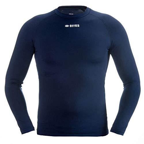 ERMES Funktionsshirt mit geringer Kompression (langarm) ideal zum Training beim Fußball, Running, Football, Rugby, Hockey u.v.m. · KINDER Jungen & Mädchen Unterziehshirt (Kompressionsshirt) aus Polyester-Stoff für Individual- & Teamsport von Erreà (marineblau, YXS)