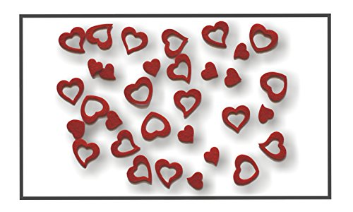 Herz-Herzen-aus-FILZ-Streudeko-5-Gramm-ca-50-Teile-Ca-2-3cm-In-ROT-rt