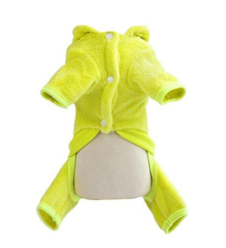YARBAR molle bello caldo di inverno dell'animale domestico dei vestiti del cane del costume giacca con cappuccio Teddy Apperal Coat