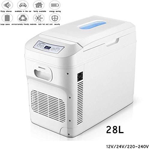 Mini réfrigérateur 28L voiture refroidisseur compresseur congélateur- glacière électrique frigo camion 24V / 12V / 220-240V Mini réfrigérateurs pour les sports en plein air Accueil Tour Voyage...
