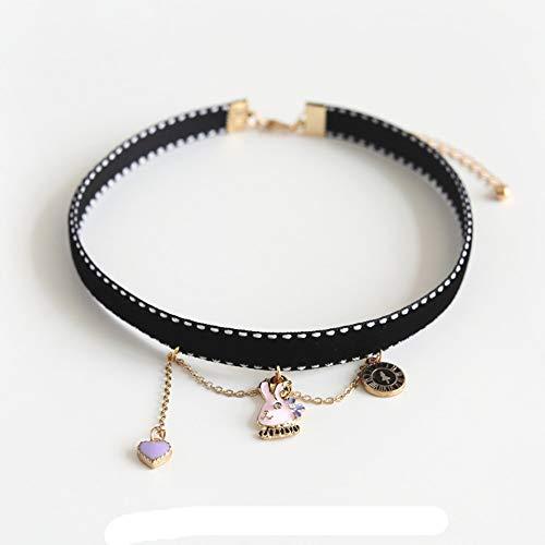 CLY necklace Halskettenhasenuhr Einfacher Student Schlüsselbeinkette Schmuckhalsband